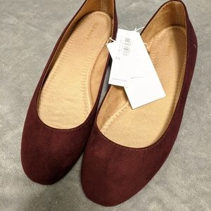 Old Navy Flats Dark Berry Colors 9.5